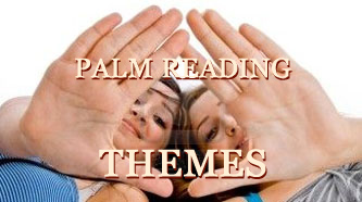 Palm reading hands.